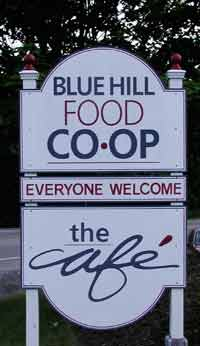Blue Hill Co-op sign